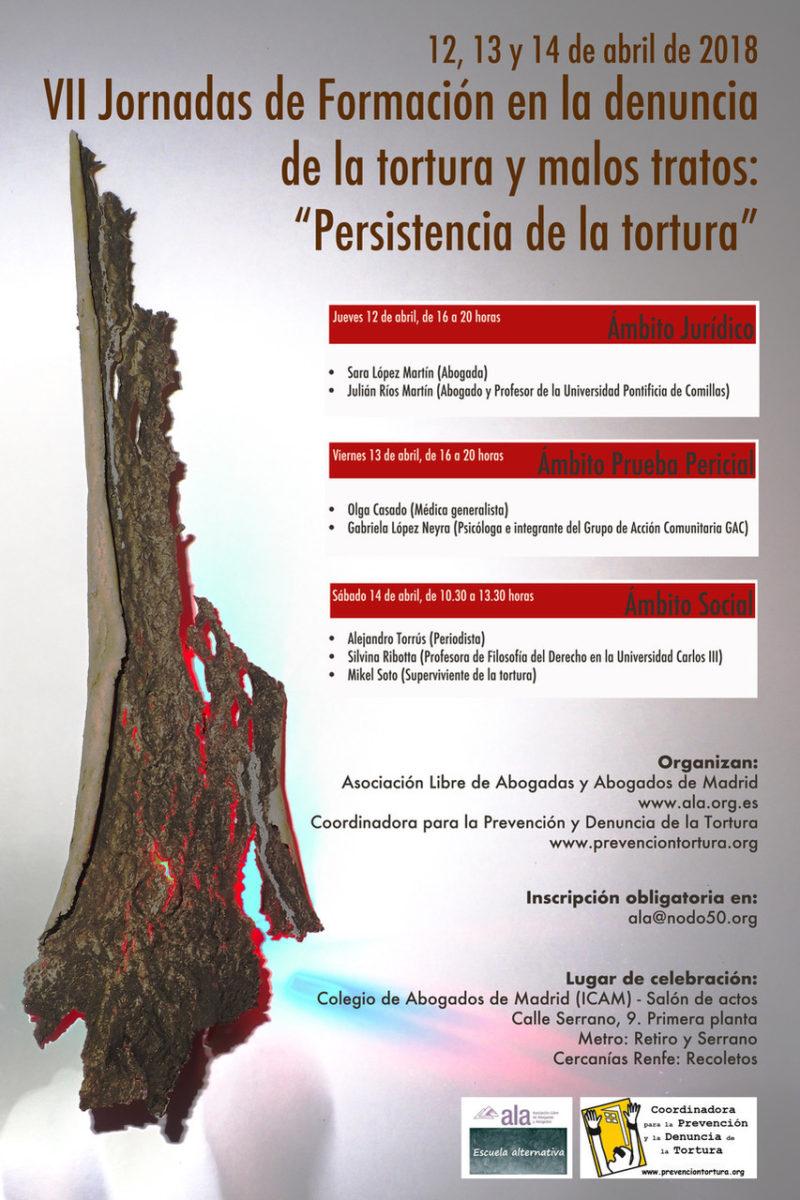 Cartel VII Jornadas Persistencia de la Tortura