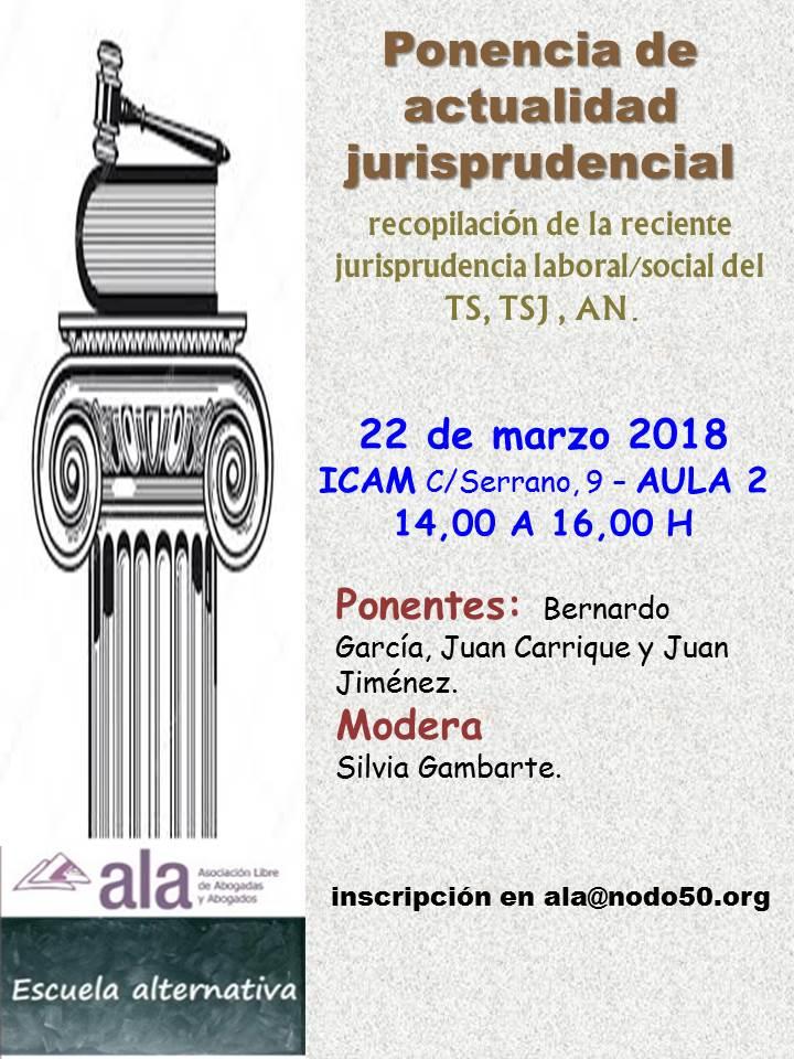 Ponencia de actualidad jurisprudencial 2