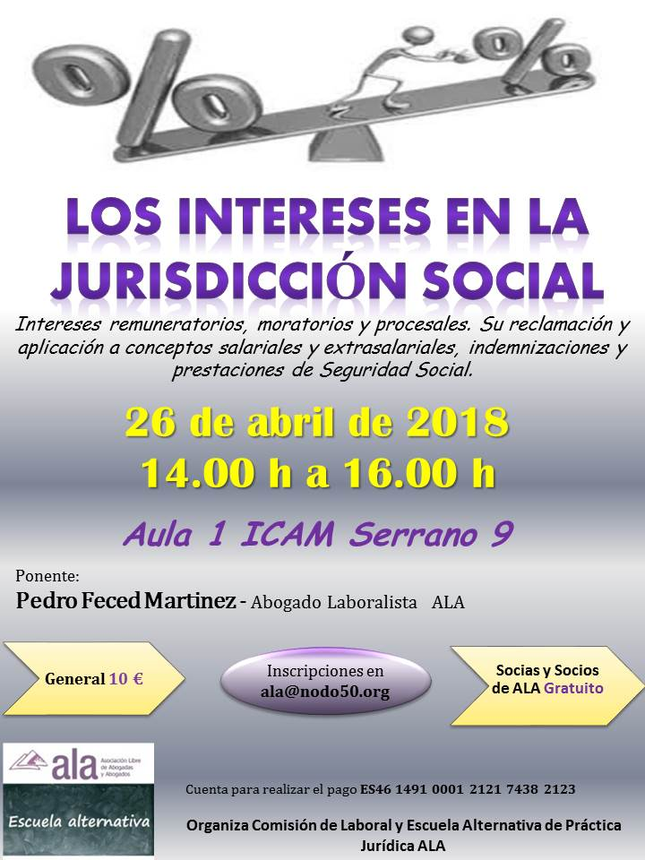 intereses jurisdiccion Social